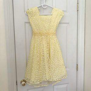 Girls Jona Michelle yellow dress size 10